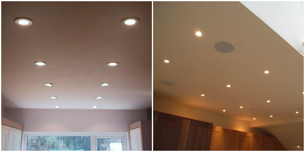 downlighters in home