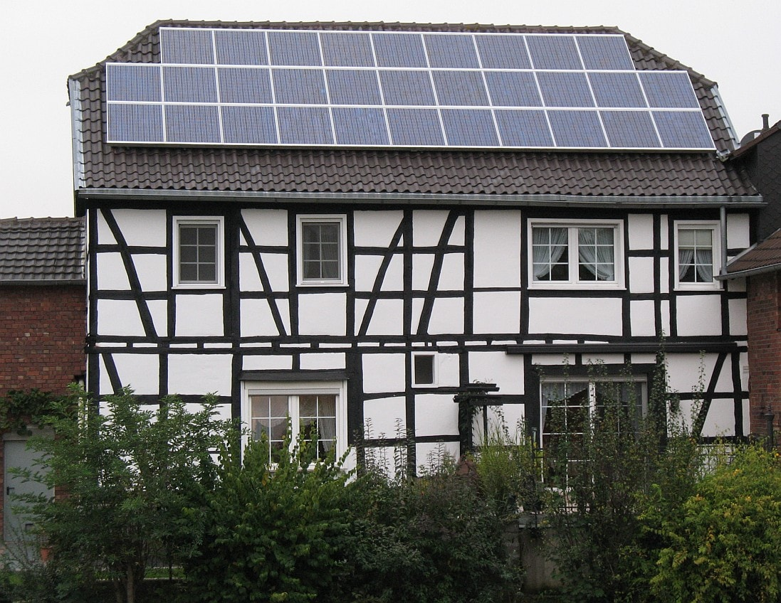 solar powered home -solar panels