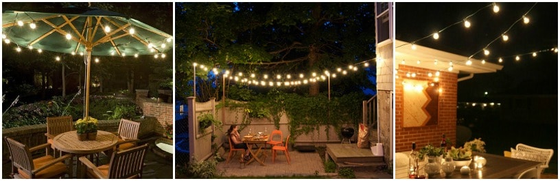 pinterest garden lights